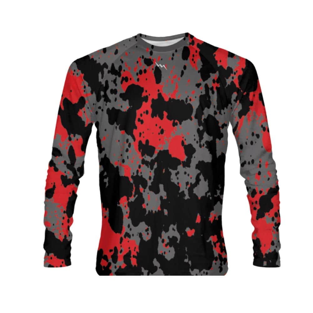Paint Spaltter Long Sleeve Shirt Custom Sublimated Shirts