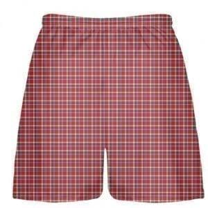 Red Plaid Lacrosse Shorts