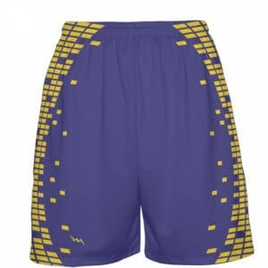 purple gold basketball shorts