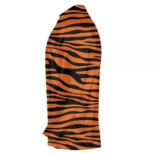 8775f1b465 Tiger Striped Long Sleeve Shirts & Custom Orange Black Tiger Shirts