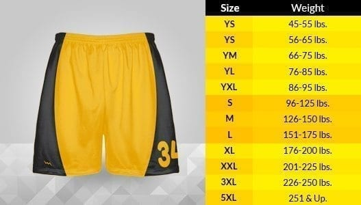 shorts-sizing-chart