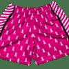womens cancer ribbon shorts
