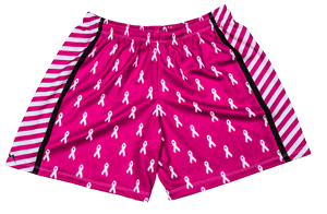 womens cancer ribbon shorts