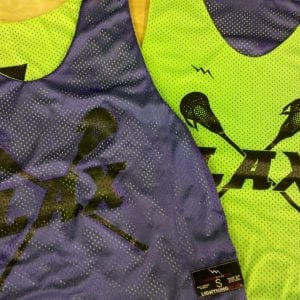 Neon Green and Purple Lax Pinnies