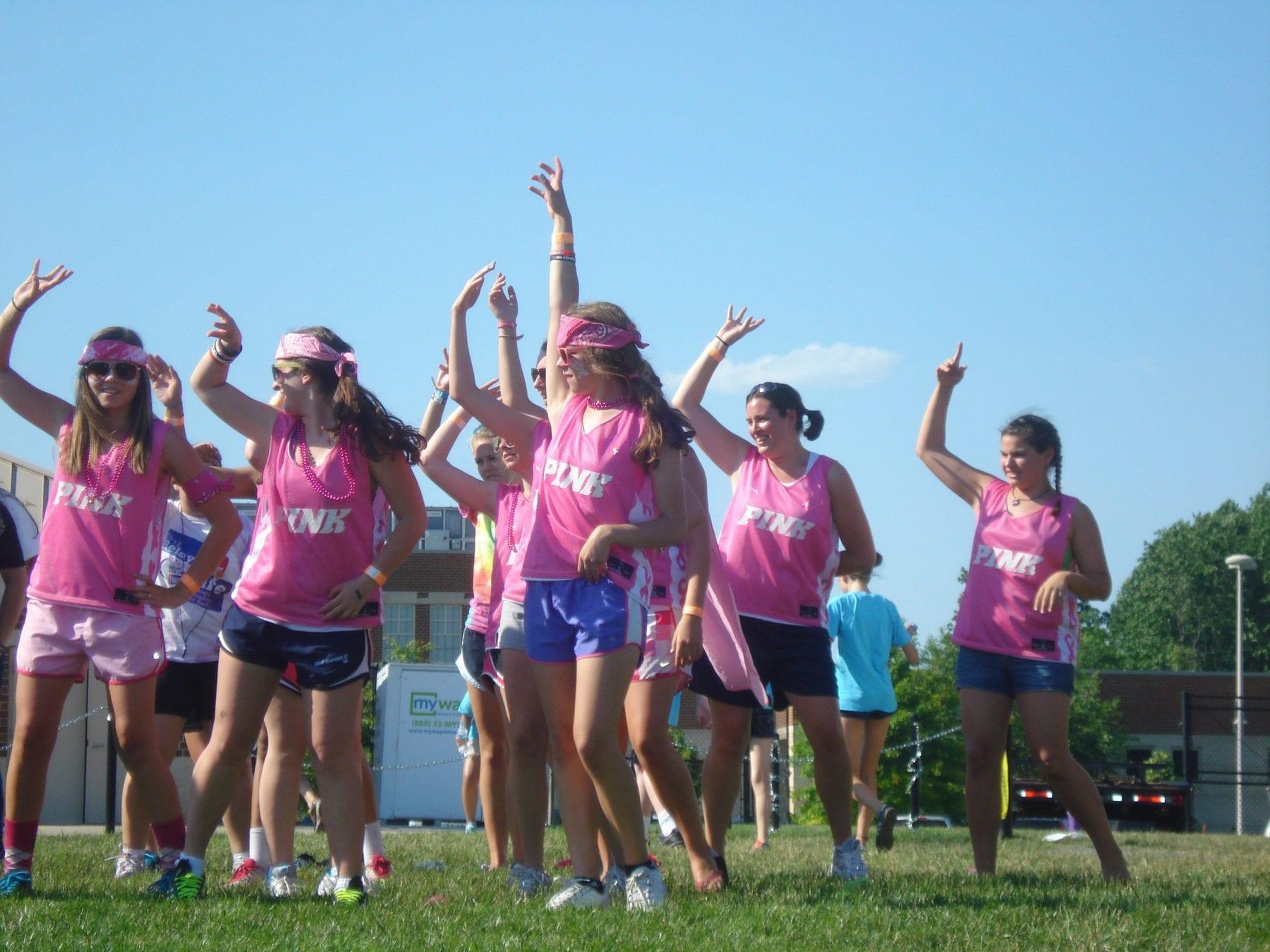 team pink pinnies