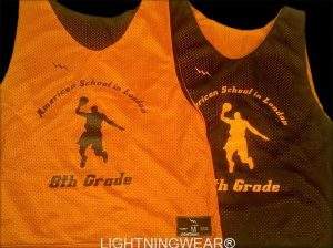 Orange Basketball Reversible Jerseys