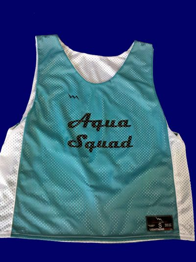 aqua squad pinnies