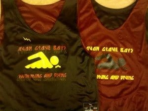 avon grave boys swimming and diving pinnies