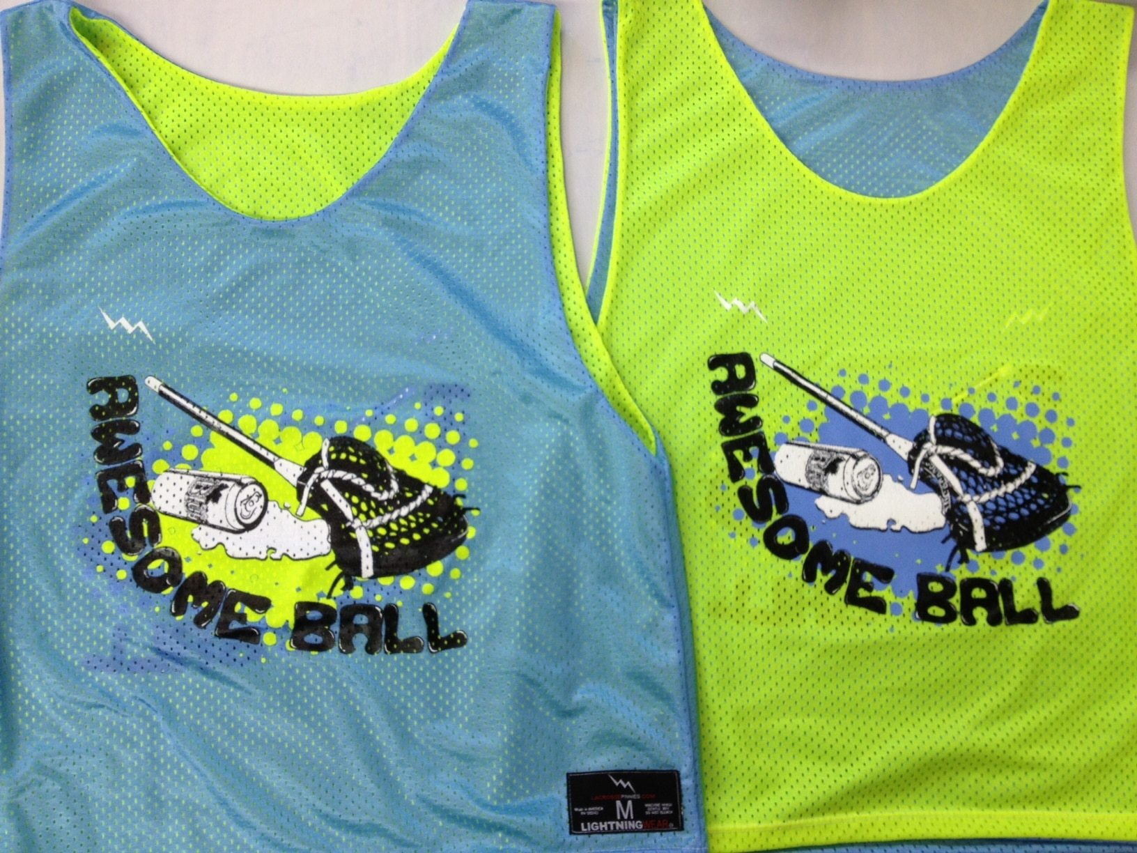 awesome ball pinnies lacrosse pinnie