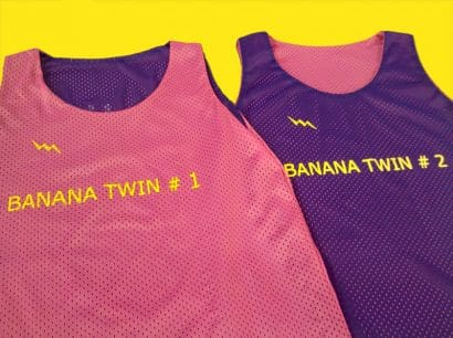 banana twin pinnies