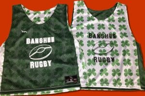 banshee rugby pinnies