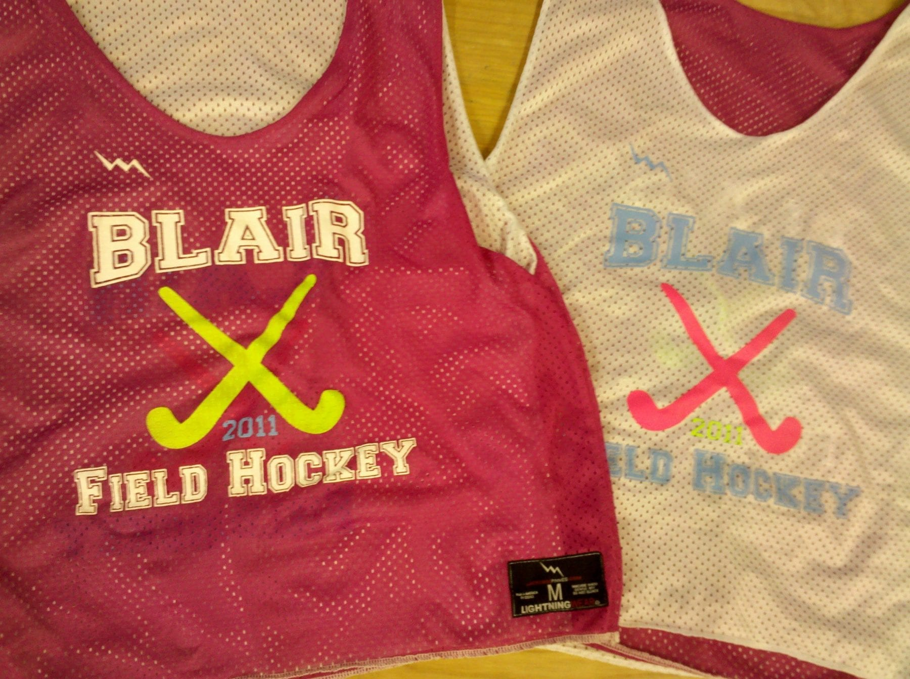 blair field hockey pinnies