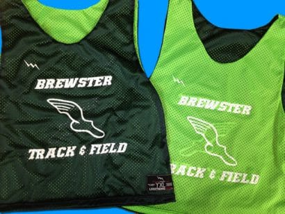 brewster track and field pinnies