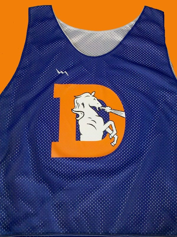 broncos pinnies