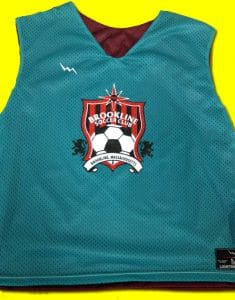 brookline soccer pinnies