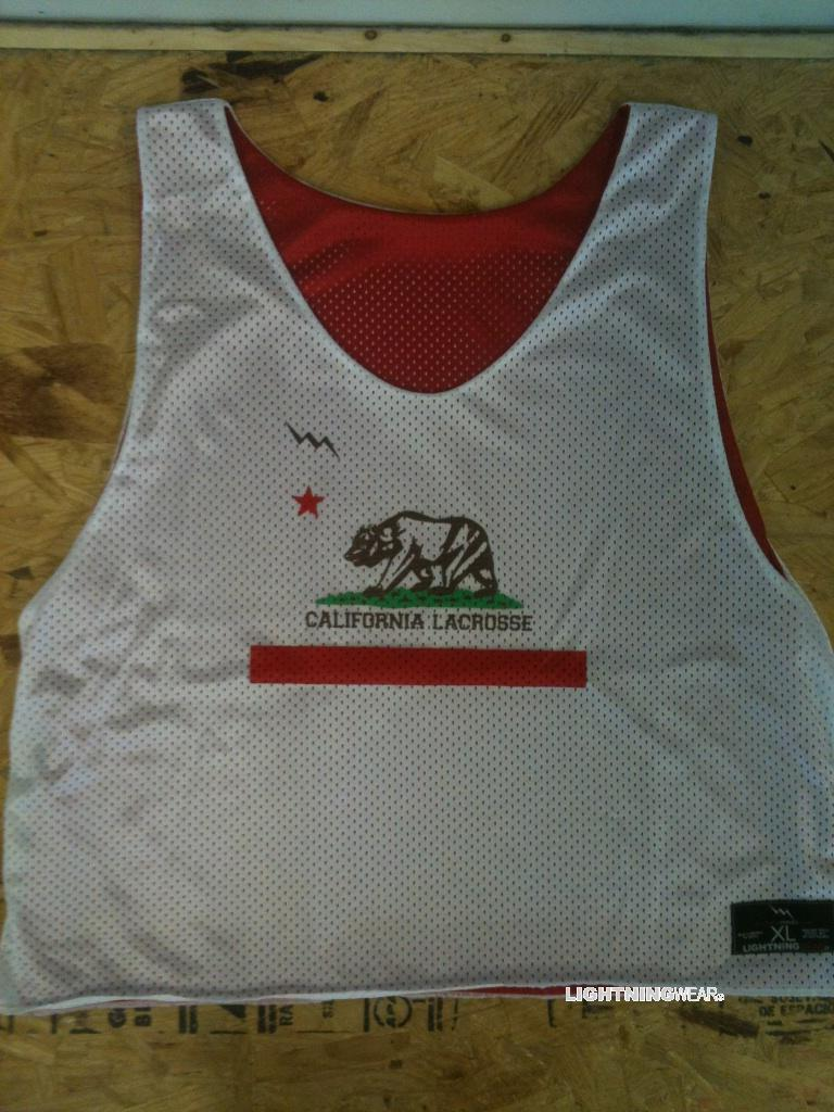 california lacrosse pinnies