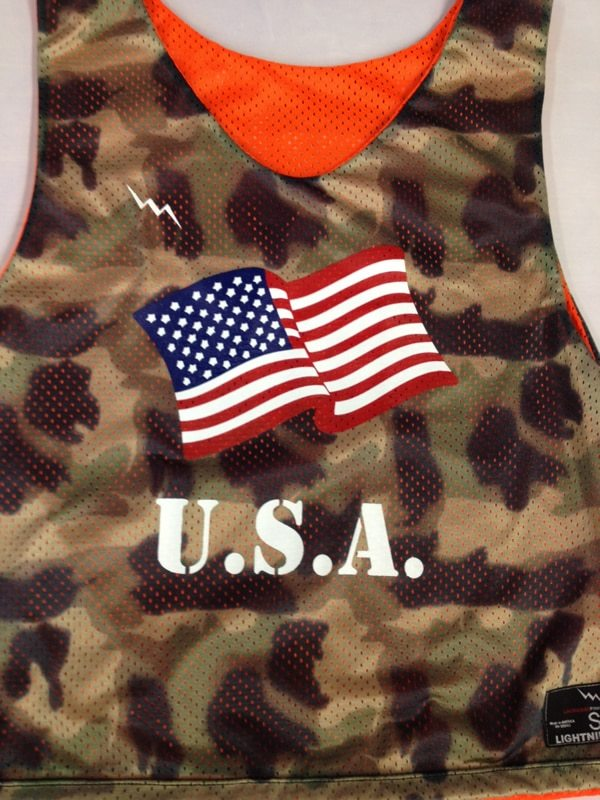 camo USA pinnies
