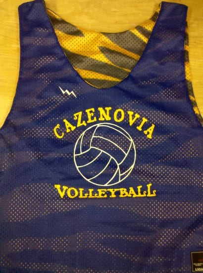 cazenovia volleyball pinnies