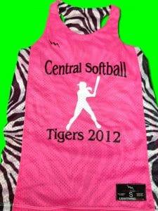 Central Softball Pinnies