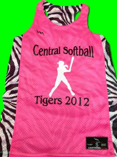 central softball pinnies tigers pinnies