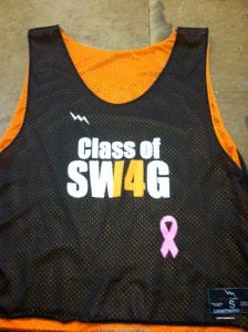 Orange Black Lacrosse Pinnies