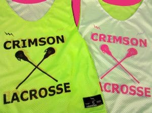 crimson lacrosse pinnies