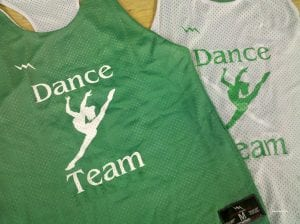 dance team pinnies