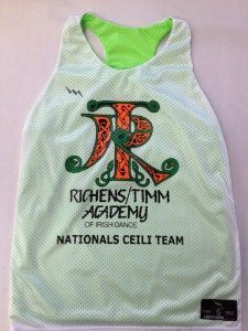 Irish Dance Team Pinnies - Richens Timm Academy Pinnies
