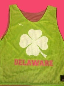 delaware shamrock pinnies