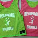 Delaware Sharks Pinnies – Girls Lacrosse Pinnies – Delaware Pinnies