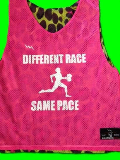 different race same pace pinnies