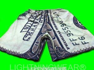 dollar bill sublimated shorts
