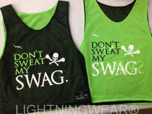 neon green black pinnies