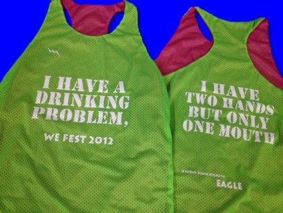 drinking problem pinnies
