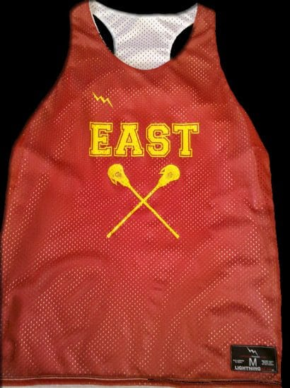 east girls lacrosse pinnies