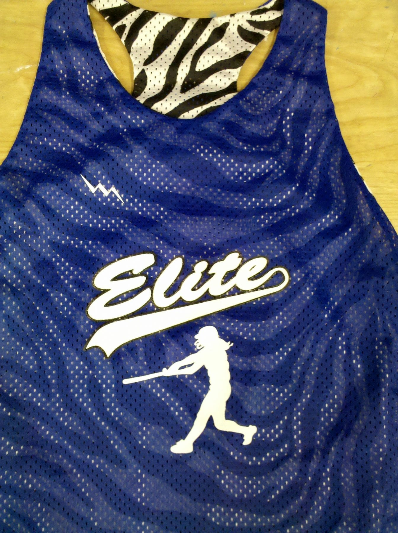 elite softball pinnies