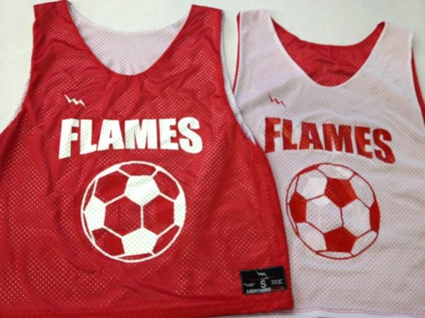 flames soccer pinnies