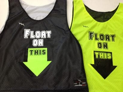 float on this pinnies