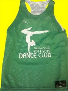 FM High School Dance Team Pinnies