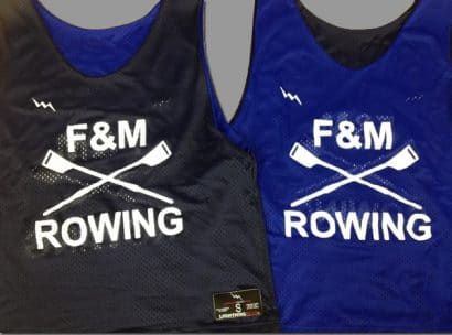 f&m rowing pinnies