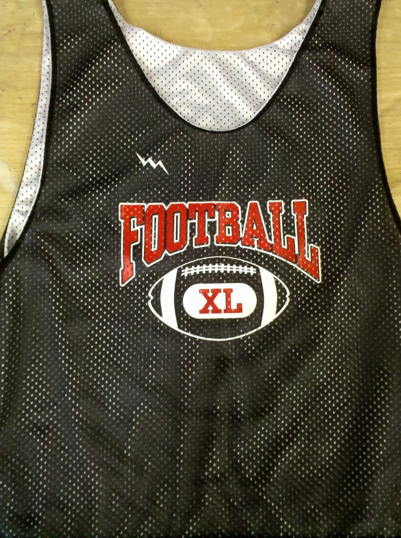 football pinnies