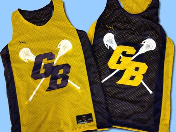 gb lacrosse pinnies - Racerback pinnies
