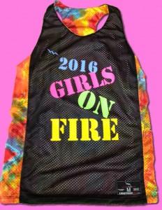 girls on fire pinnies