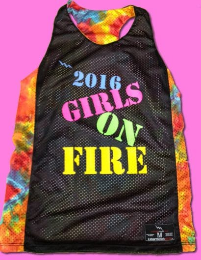 girls on fire pinnies