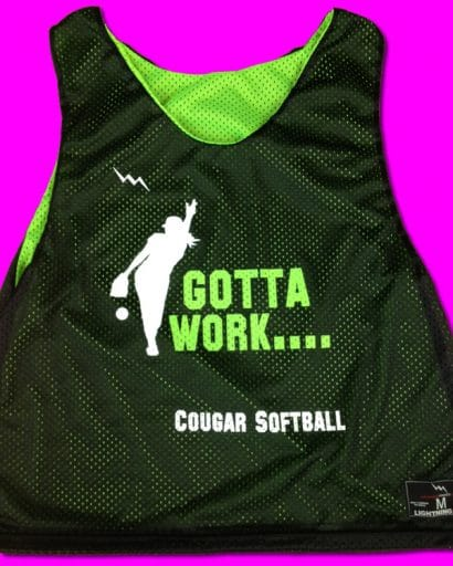 gotta work softball pinnies