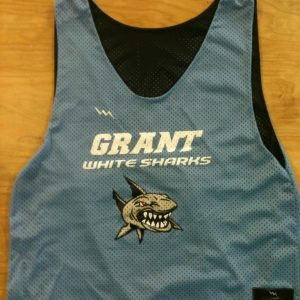 grant white sharks pinnies