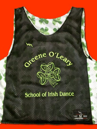 green oleary school of dance pinnies