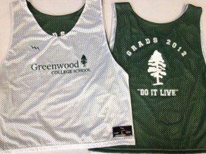 Greenwood College School pinnies