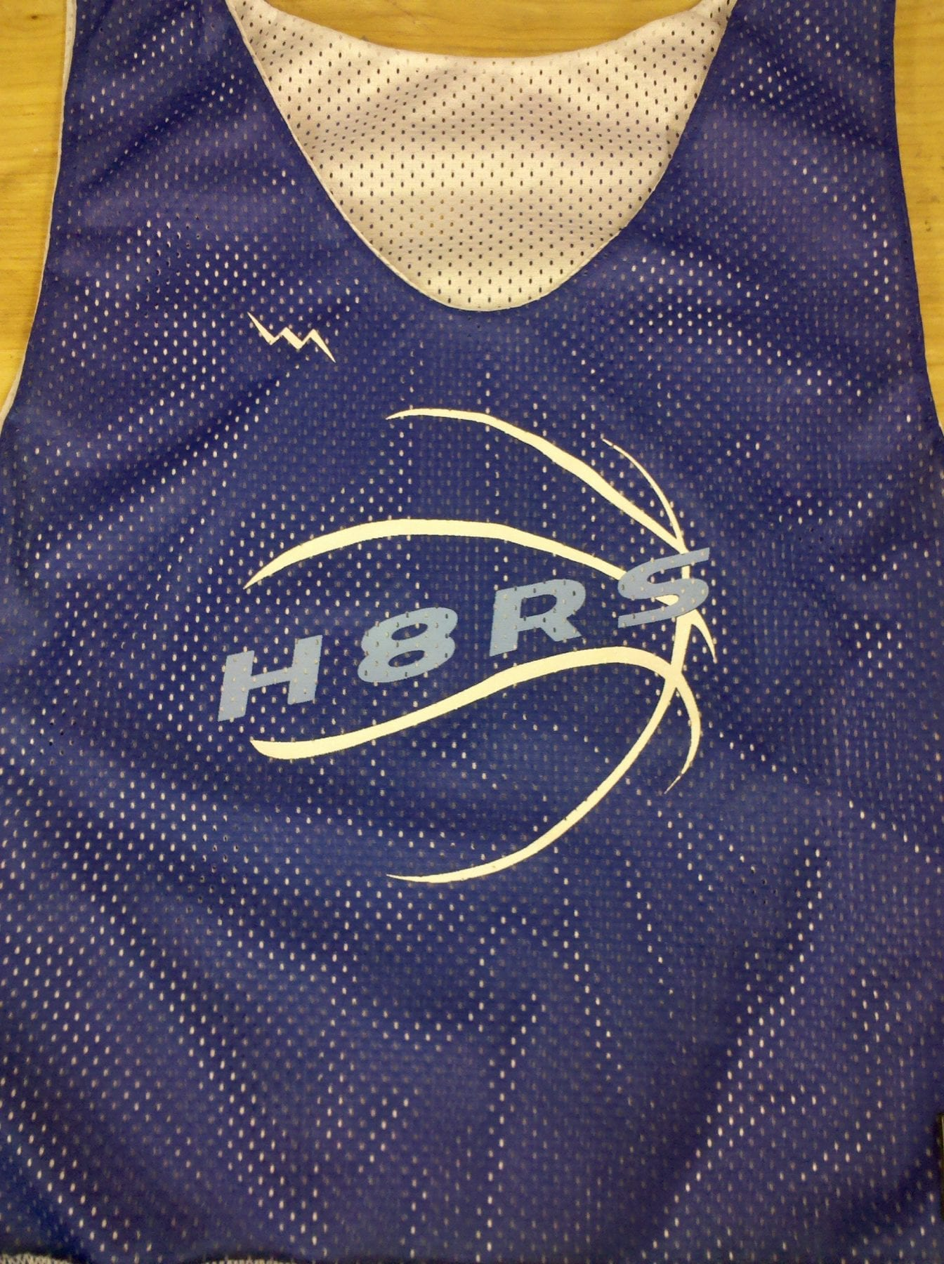 h8rs basketball pinnies