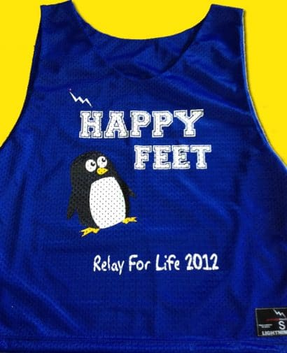 happy feet pinnies